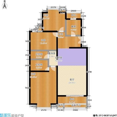 世桥国贸公寓3室0厅2卫1厨146.00㎡户型图