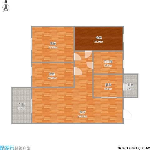 宇宏・健康花城二期3室1厅1卫1厨154.00㎡户型图
