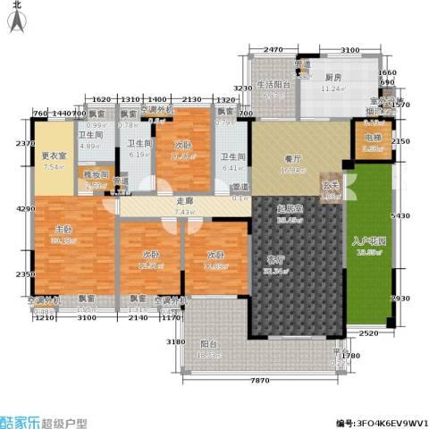 归心苑4室0厅3卫1厨225.00㎡户型图