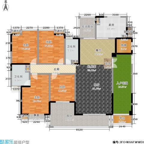 归心苑4室0厅2卫1厨200.00㎡户型图
