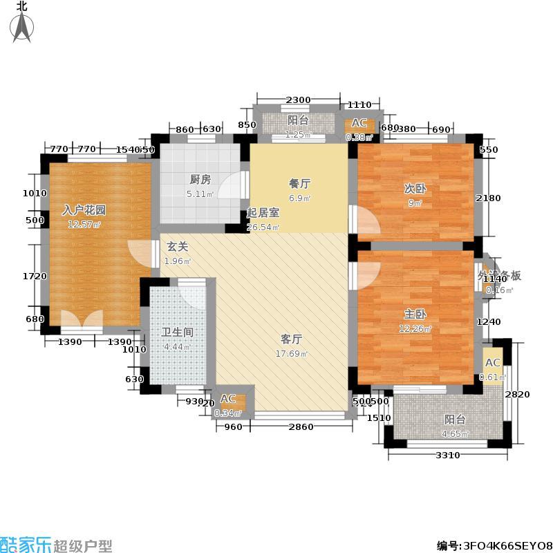 中国诺贝尔城点式景观洋房-A1户型