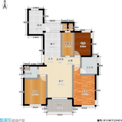 金色水岸3室0厅2卫1厨169.00㎡户型图