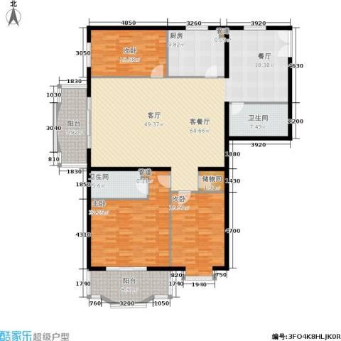 华盛乐章3室1厅2卫1厨174.00㎡户型图