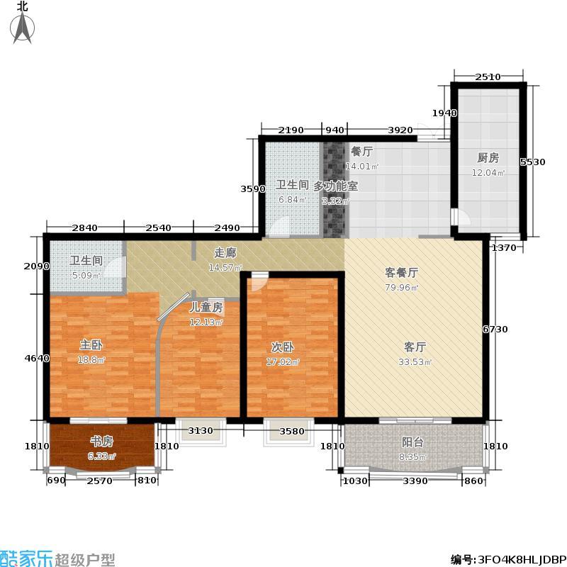 华盛乐章165.01㎡3室-2厅-2卫-1厨户型