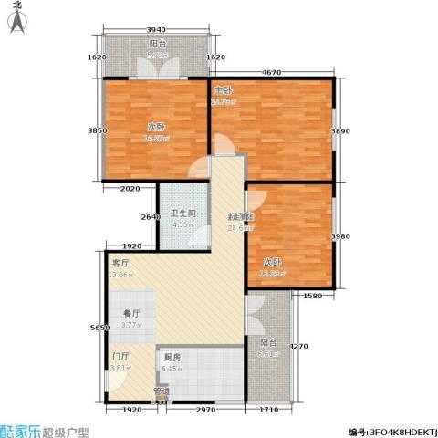 甘露晴苑3室0厅1卫1厨104.00㎡户型图