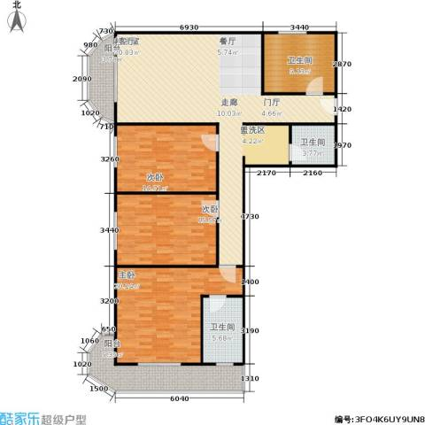 亚运豪庭3室0厅3卫0厨142.00㎡户型图