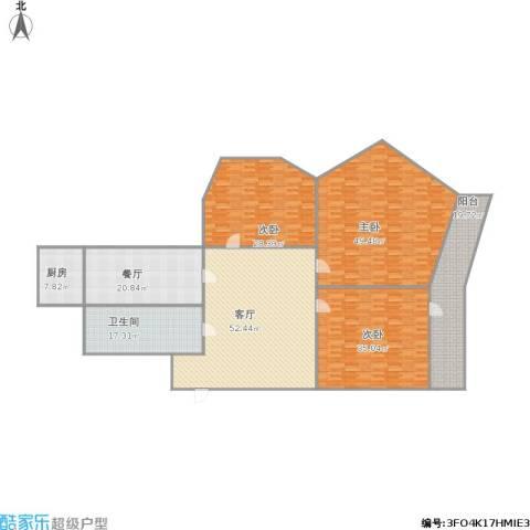 七里堡小区3室2厅1卫1厨302.00㎡户型图