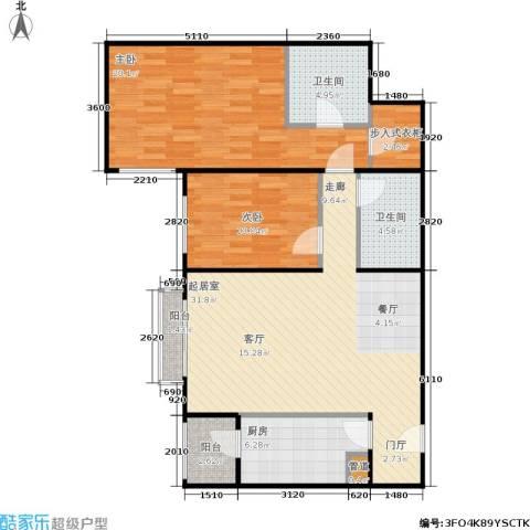 银领国际2室0厅2卫1厨115.00㎡户型图