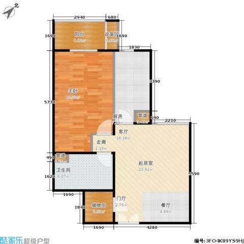 银领国际1室0厅1卫1厨85.00㎡户型图