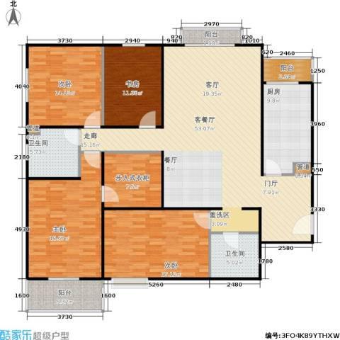银领国际4室1厅2卫1厨194.00㎡户型图