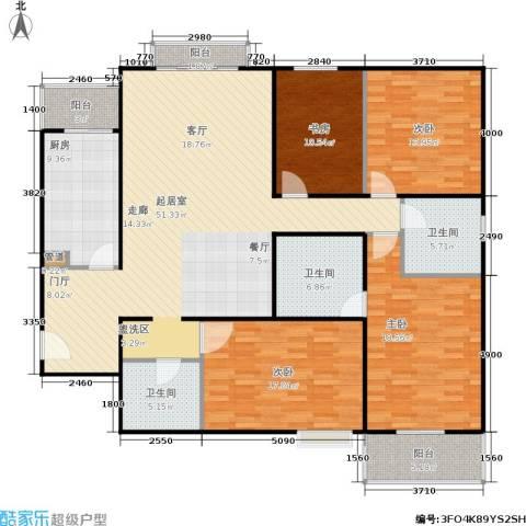 银领国际4室0厅3卫1厨194.00㎡户型图