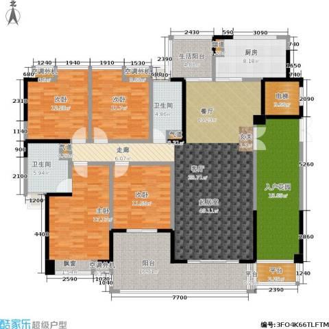 归心苑4室0厅2卫1厨182.00㎡户型图