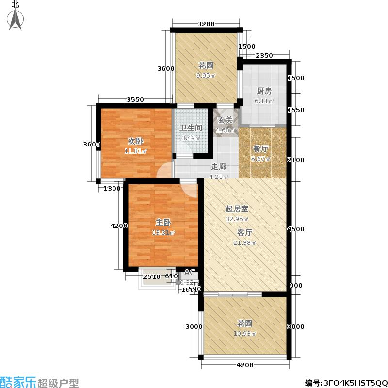 师大现代花园94.09㎡师大现代花园户型图A型-4(4/4张)户型10室