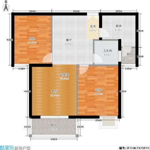 嘉逸名庭2室0厅1卫1厨90.00㎡户型图