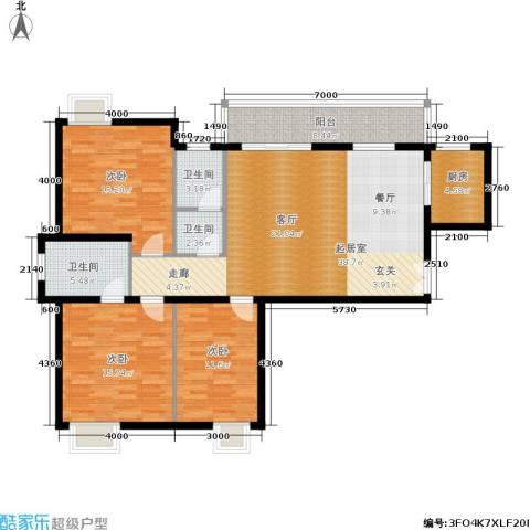 嘉逸名庭3室0厅3卫1厨125.00㎡户型图