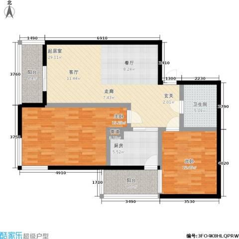 东风家园2室0厅1卫1厨96.00㎡户型图