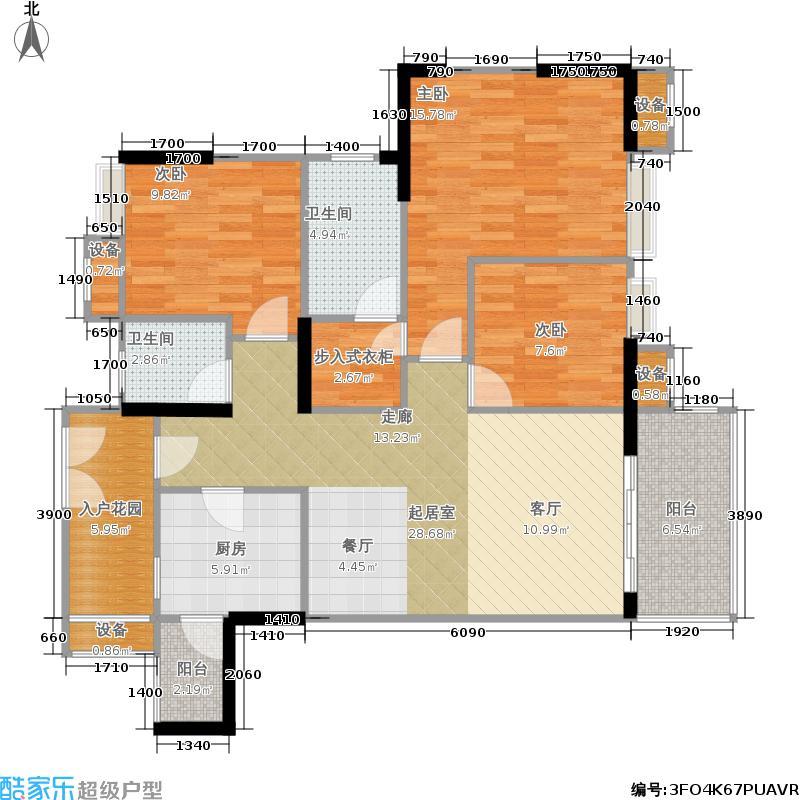 航天城上城115.00㎡A1户型3室2厅2卫