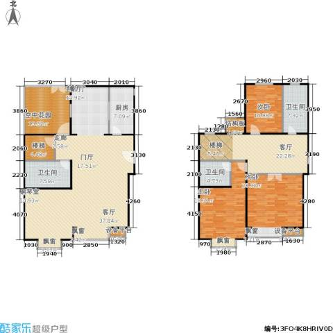 巧克力城3室2厅3卫1厨199.00㎡户型图