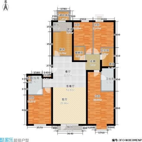 上元君庭4室1厅3卫1厨209.00㎡户型图