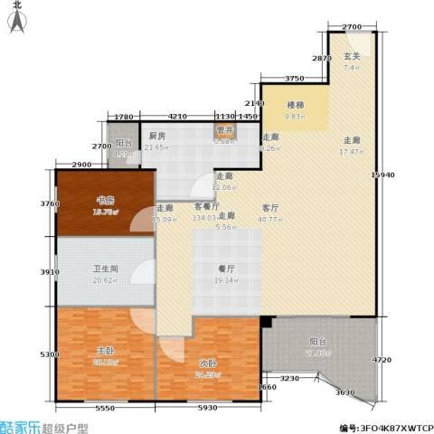 天创世缘3室1厅1卫1厨288.00㎡户型图