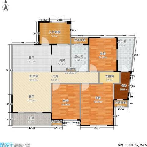 嘉年华国际社区4室0厅2卫1厨121.00㎡户型图