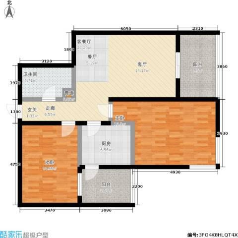 东风家园2室1厅1卫1厨99.00㎡户型图