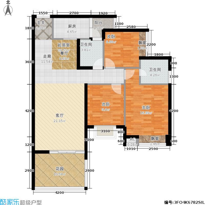 师大现代花园114.20㎡师大现代花园户型图D型-12(4/6张)户型10室