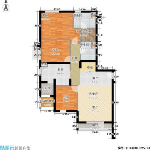 上元君庭3室1厅2卫0厨141.00㎡户型图