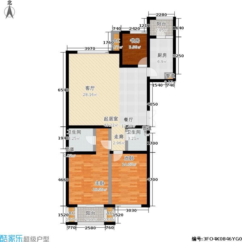 梧桐公寓119.00㎡房型户型