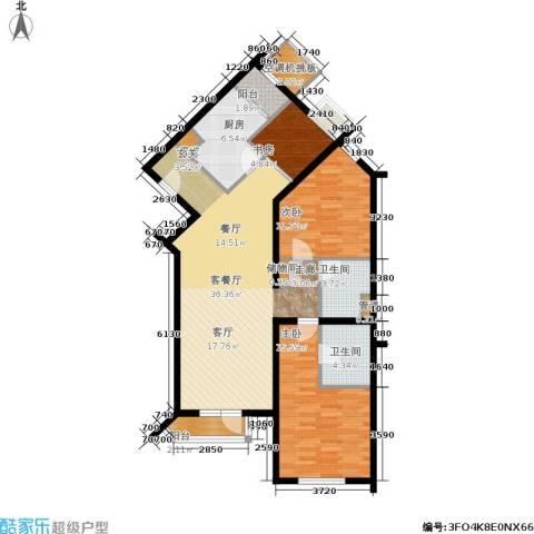 上元君庭3室1厅2卫1厨135.00㎡户型图