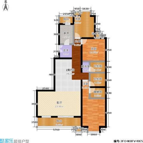 世桥国贸公寓3室0厅2卫1厨163.00㎡户型图