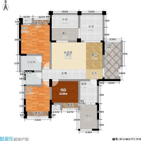 成都合院3室0厅2卫1厨120.25㎡户型图