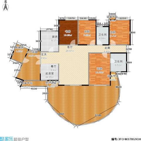 富湾国际4室0厅2卫1厨248.00㎡户型图