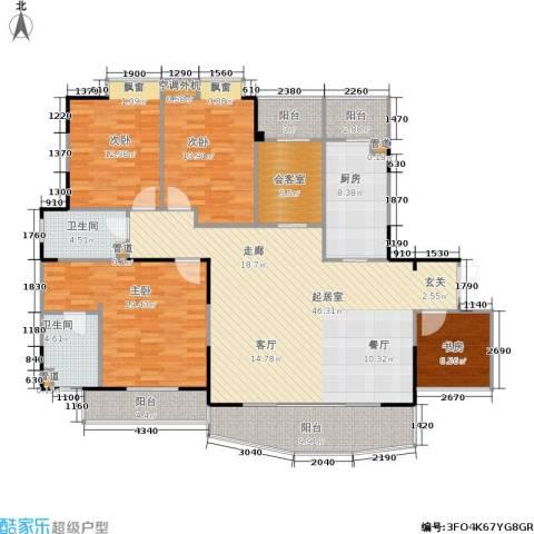 嘉年华国际社区4室0厅2卫1厨156.00㎡户型图