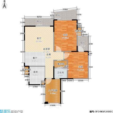 嘉年华国际社区2室0厅1卫1厨91.00㎡户型图