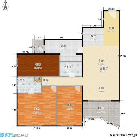 天创世缘3室1厅2卫1厨150.00㎡户型图