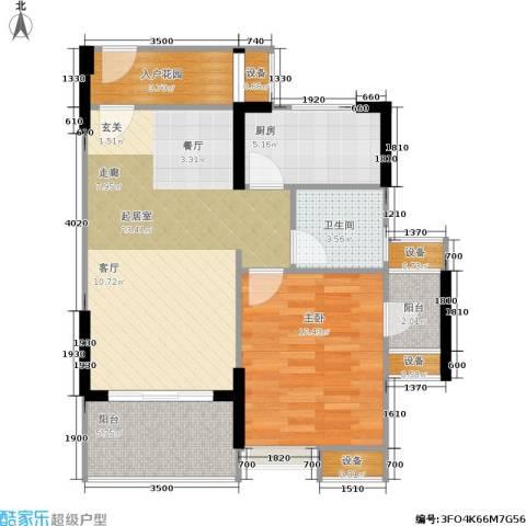 航天城上城1室0厅1卫1厨67.00㎡户型图