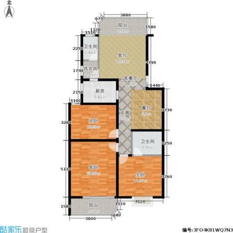 鑫湘佳园3室1厅2卫1厨120.00㎡户型图