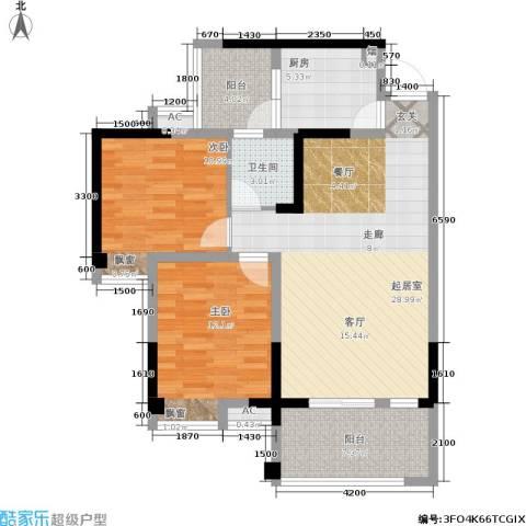 成都合院2室0厅1卫1厨87.00㎡户型图