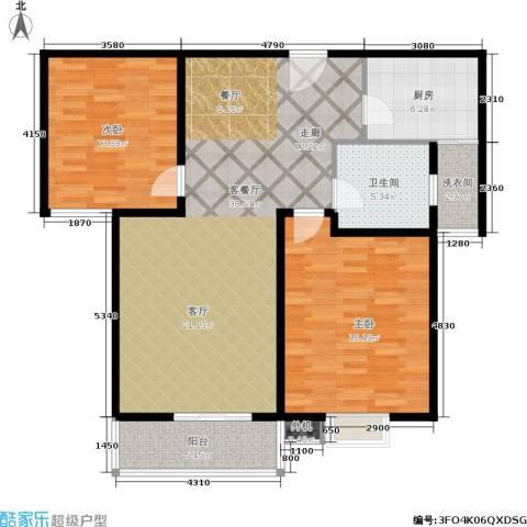 绿地世纪城2室1厅1卫1厨99.00㎡户型图
