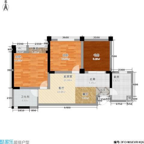 成都合院3室0厅1卫1厨79.00㎡户型图