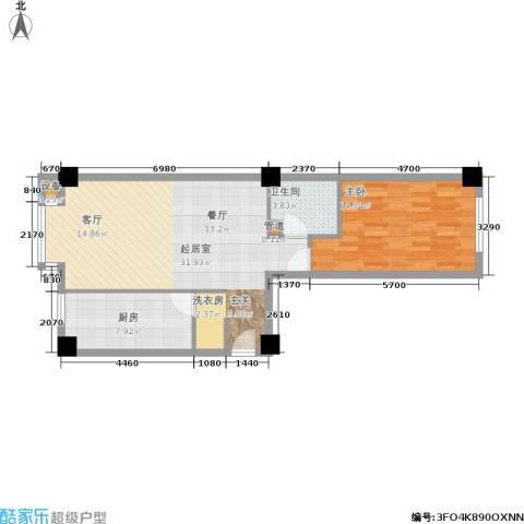 光大名筑1室0厅1卫1厨67.00㎡户型图