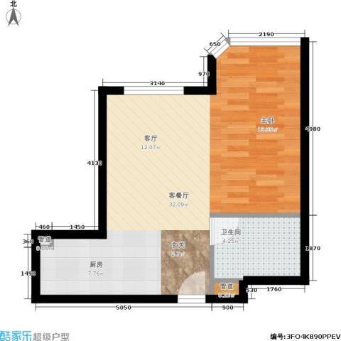光大名筑1厅1卫0厨54.00㎡户型图