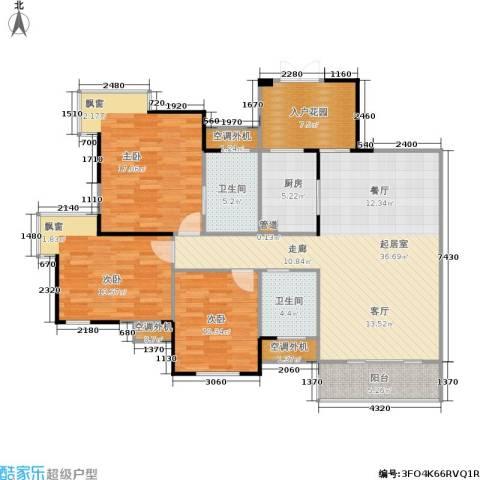 嘉年华国际社区3室0厅2卫1厨118.00㎡户型图