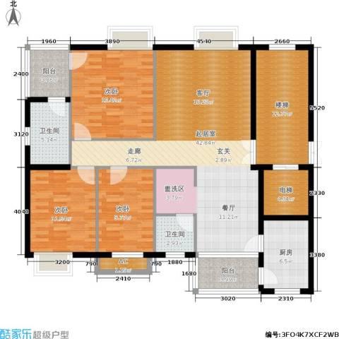 嘉逸名庭3室0厅2卫1厨125.00㎡户型图