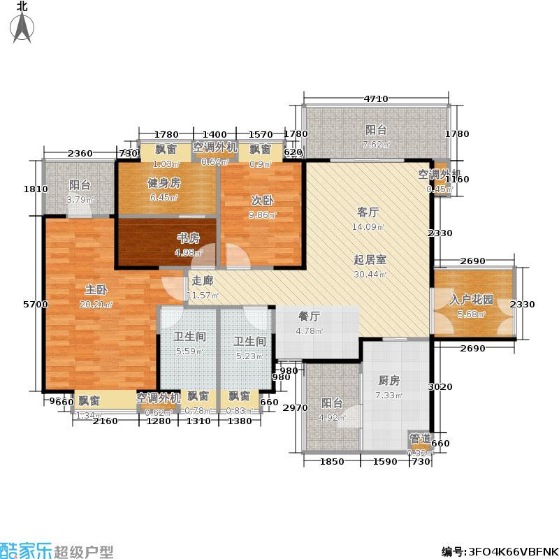 汇锦城126.00㎡C户型三室两厅双卫户型3室2厅2卫