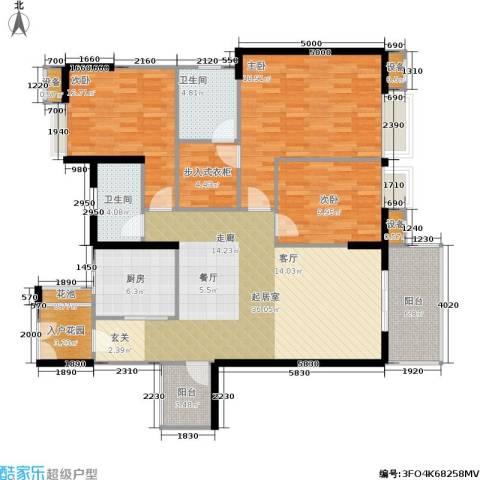航天城上城3室0厅2卫1厨138.00㎡户型图