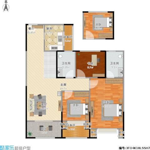路劲城市主场4室1厅2卫1厨151.00㎡户型图