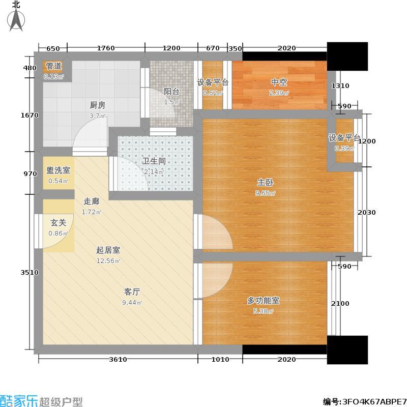 三度空间2011.00㎡三度空间户型图2011年4月在售1期1批次B.2栋型两室两厅一卫建筑面积约:46.84平米(2/8张)户型2室2厅1卫