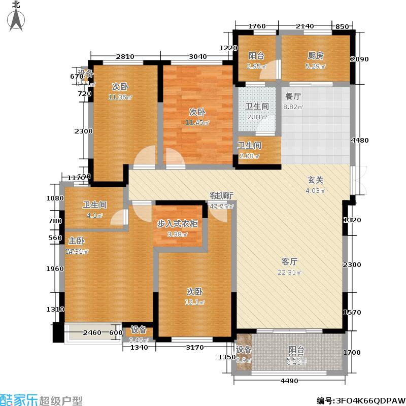 建发金沙里建发金沙里户型图(3/4张)户型4室2厅2卫
